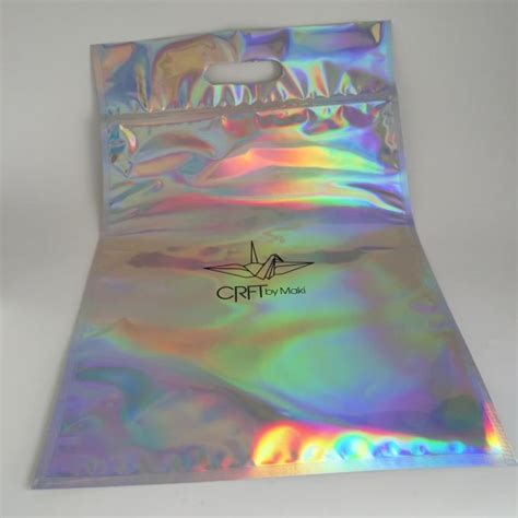 zip lock plastic pouches packaging holographic mylar plastic bag laser printed