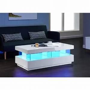 table basse a led maison design modanescom With superior meuble cuisine blanc laque 2 cuisine verre ebane