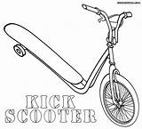 Scooter Coloring Pages Kick Colour Historiasdesobedientes Scooty Yellow sketch template