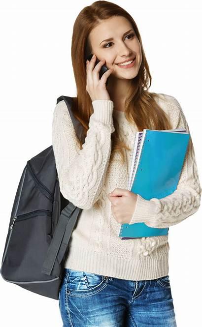 Student Female Phone Transparent Help Dissertation Purepng
