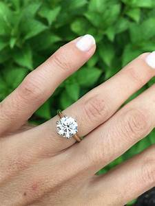 my engagement ring round brilliant solitaire 14k yellow With solitaire wedding ring