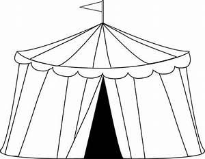 carnival clip art | ... Circus Tent Clip Art Image - black ...