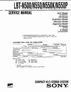 Sony Lbt-n500  Lbt-n550  Lbt-n550k  Lbt-n550p Service Manual