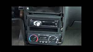 00-02 Saturn Sl2 Radio Install  After Trim Removal