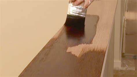 stain wood   apply wood stain