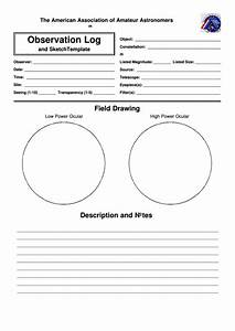 Bmi Categories Astronomy Observation Log And Field Drawing Printable Pdf