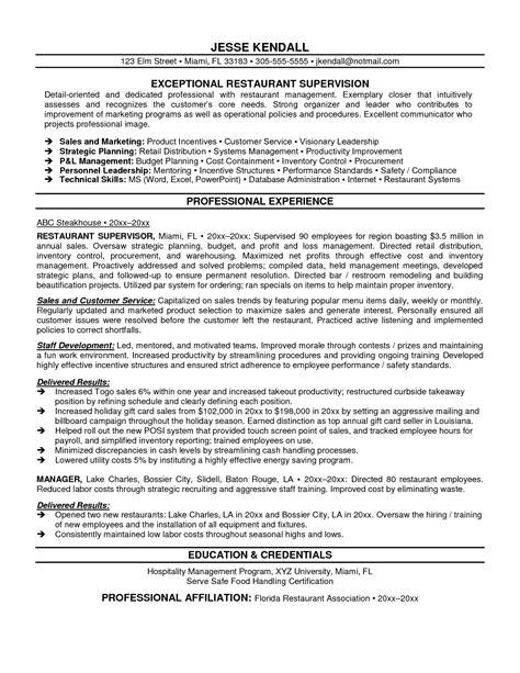 Sle Resume Objectives For Restaurant Management by Restaurant Resume Objective Berathen Objective Statement