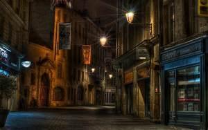 Urban, Street, Lights, Architecture, Building, Night, City