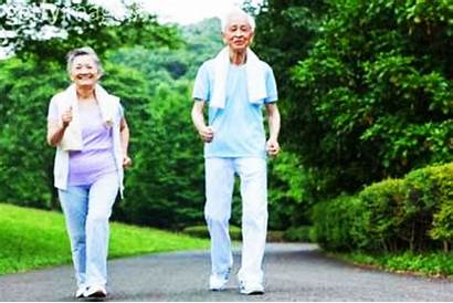 Elderly Walking Exercise Healthly Era Illustrated