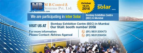 intersolar india event mb energy management monitoring solutions