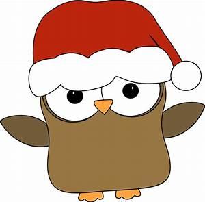 Christmas Owl Clip Art - Christmas Owl Image