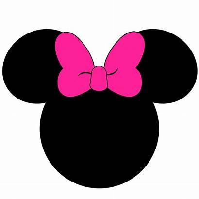 Minnie Mouse Face Head Mickey Outline Silhouette