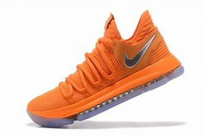 "2017 Cheap Nike KD 10 ""All-Star"" Orange Silver Basketball ..."