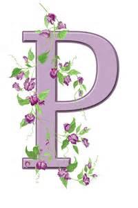 Floral Monogram Letter P