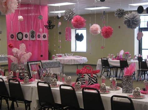 zebra  hot pink baby shower party ideas zebra baby