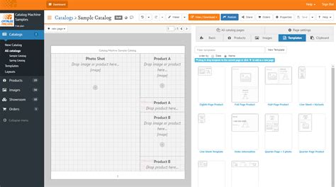 create  lookbook   templates catalog machine
