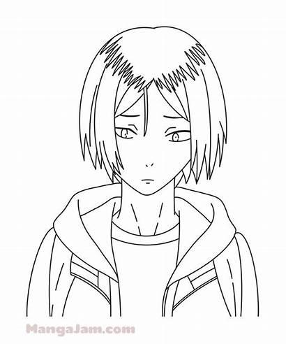 Haikyuu Kenma Coloring Draw Kozume Easy Anime