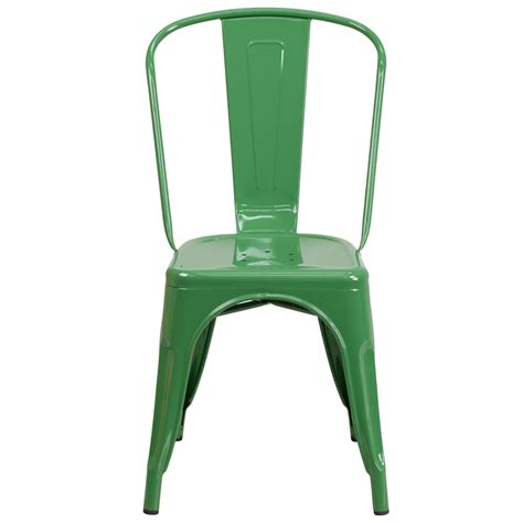 green metal indoor outdoor stackable chair ch 31230 gn gg