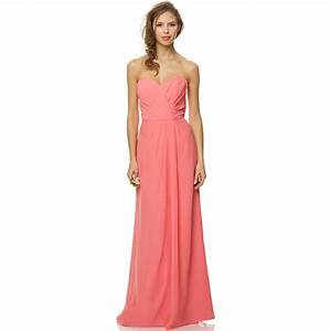 cheap 2015 pink long bridesmaid dresses chiffon floor With pink long dress for wedding