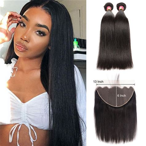 straight human hair weave hairstyles with 13x6 lace