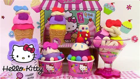Play Doh Hello Kitty Ice Cream Shop le marchand de glaces ...