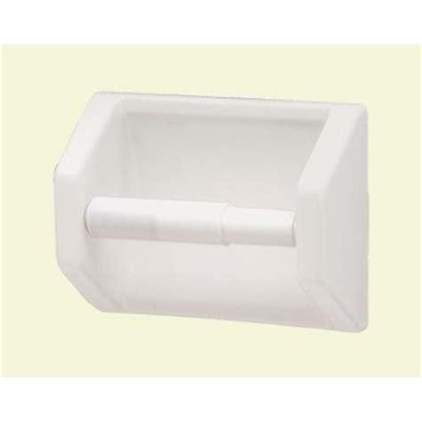 lenape recessed toilet paper holder in white 177201