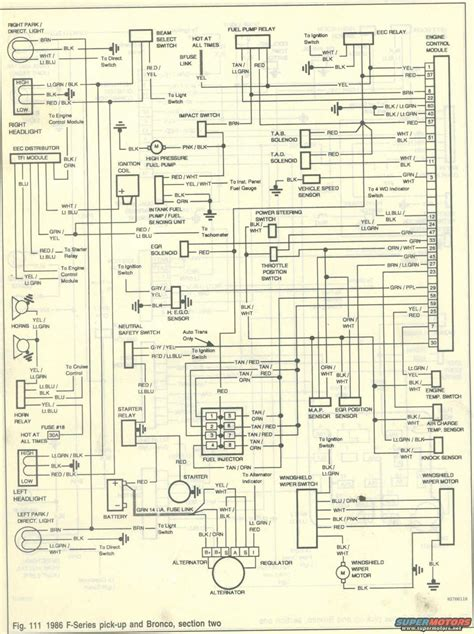 Ford Bronco Wiring by 1986 Ford Bronco Wiring Diagrams Picture Supermotors Net