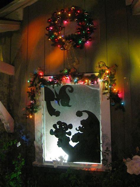 christmas window silhouette decor pinterest