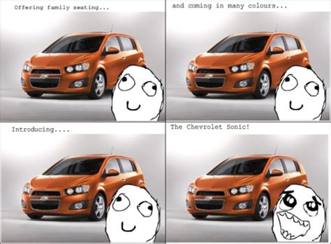Chevrolet Memes Chevy Sonic Rage Faces Memes In Advertising