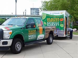 Healthy Harvest Mobile Market Advertising Design Logo
