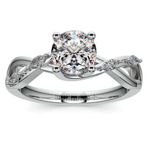 florida diamond engagement ring in white gold