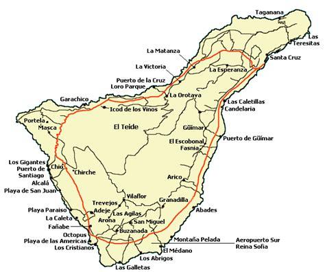 Appartamenti Madonna Di Ciglio Vendita by Mappa Geografica Isola Di Tenerife Canarie Tenerife