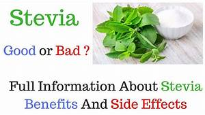 Stevia Sweetener -  U0905 U091a U094d U091b U093e  U092f U093e  U092c U0941 U0930 U093e   Full Information About Stevia Benefits And Side Effects