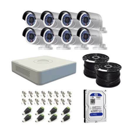 hikvision 8 channel turbo dvr with 1tb hdd 8 cameras diy cctv kit the online security shop