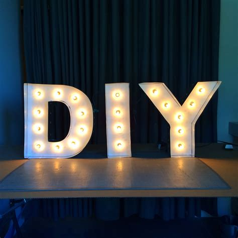how to make your own light up letters diy letter lights 53034
