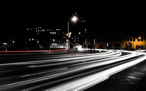 picture roads street night time cities