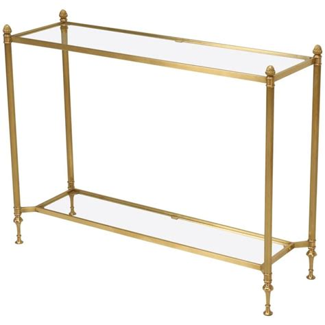 modern brass table l mid century modern brass console table for sale at 1stdibs