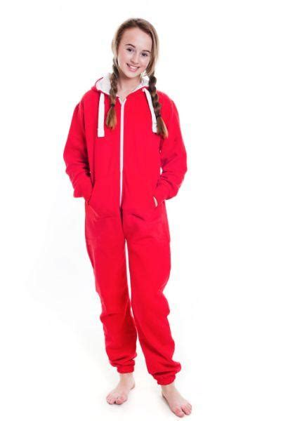 kids red onesie unisex tracksuit onesie warehouse
