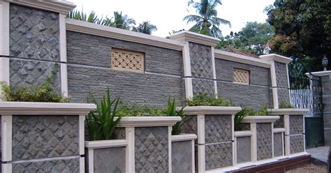 desain eksterior pagar rumah batu alam linda desain grafis