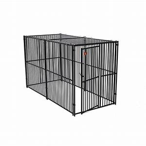shop lucky dog 10 ft x 5 ft x 6 ft outdoor dog kennel With outdoor fans for dog kennels