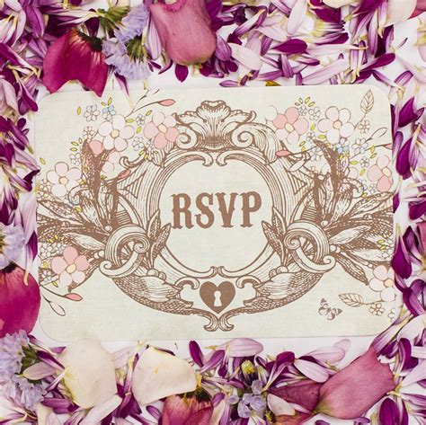 secret garden wedding invitation by something kinda
