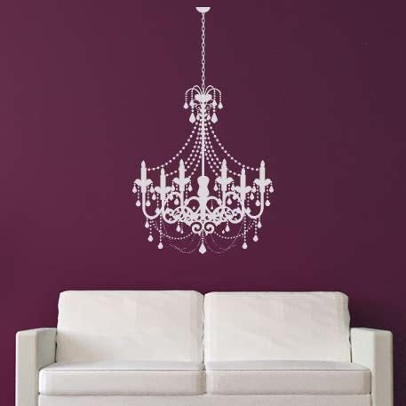 fashioned candle chandelier wall stickers wall