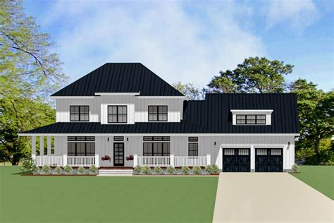 country house plan  wrap  porch la architectural designs house plans