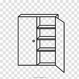 Armoires Wardrobes Coloring sketch template