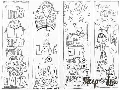 Bookmarks Coloring Lou Printable Bookmark Template Diy