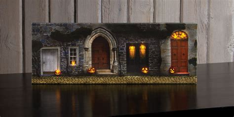 Lighted Pictures by Radiance Lighted Canvas Small Front Door With