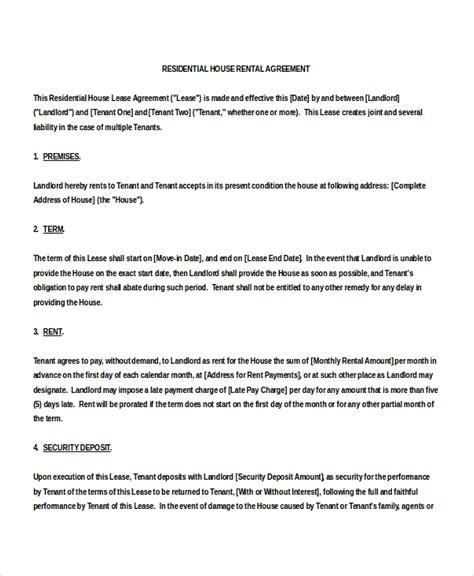 house rental agreement template 15 house rental agreement template doc pdf free premium templates