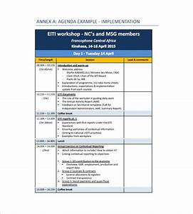 10 training agenda templates free sample example With workshop program template