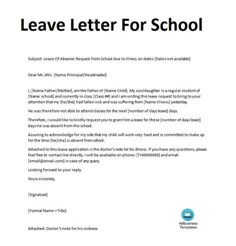 write  excuse letter  school   daughter