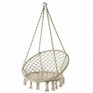 Fauteuil Suspendu Maison Du Monde : fauteuil de jardin suspendre en corde blanc gabriela ~ Premium-room.com Idées de Décoration
